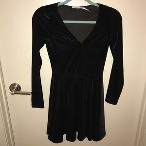 Vneck Velvet Dress